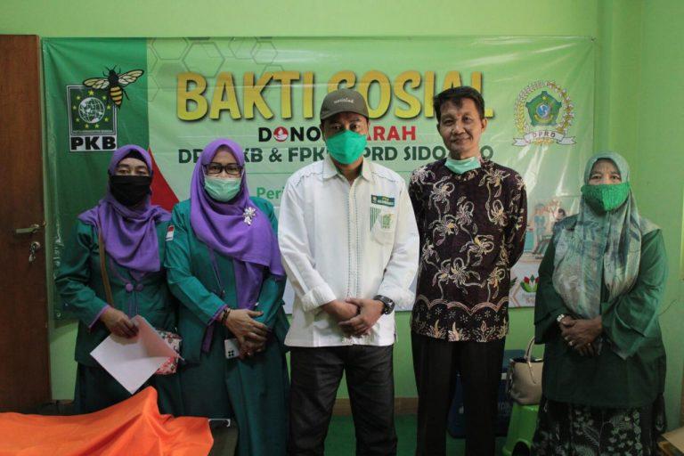 Peduli Kemanusiaan, DPC PKB Sidoarjo Gelar Donor Darah Bersama PMI