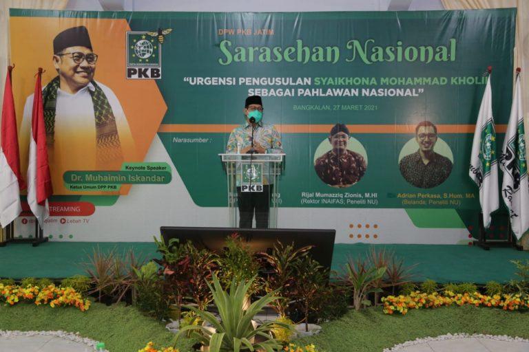 Semangat PKB Jatim Perjuangkan Gelar Pahlawan Nasional untuk Syaikhona Kholil Bangkalan