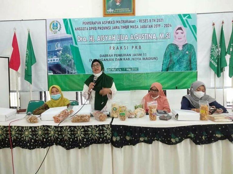 Politisi PKB Aisyah Lilia Apresisasi Produk Olahan Fatayat NU Ngajuk