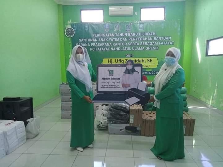 Legislator Fraksi PKB Jatim Serahkan Bantuan Paket Sarana Prasarana Kantor Fatayat NU Gresik